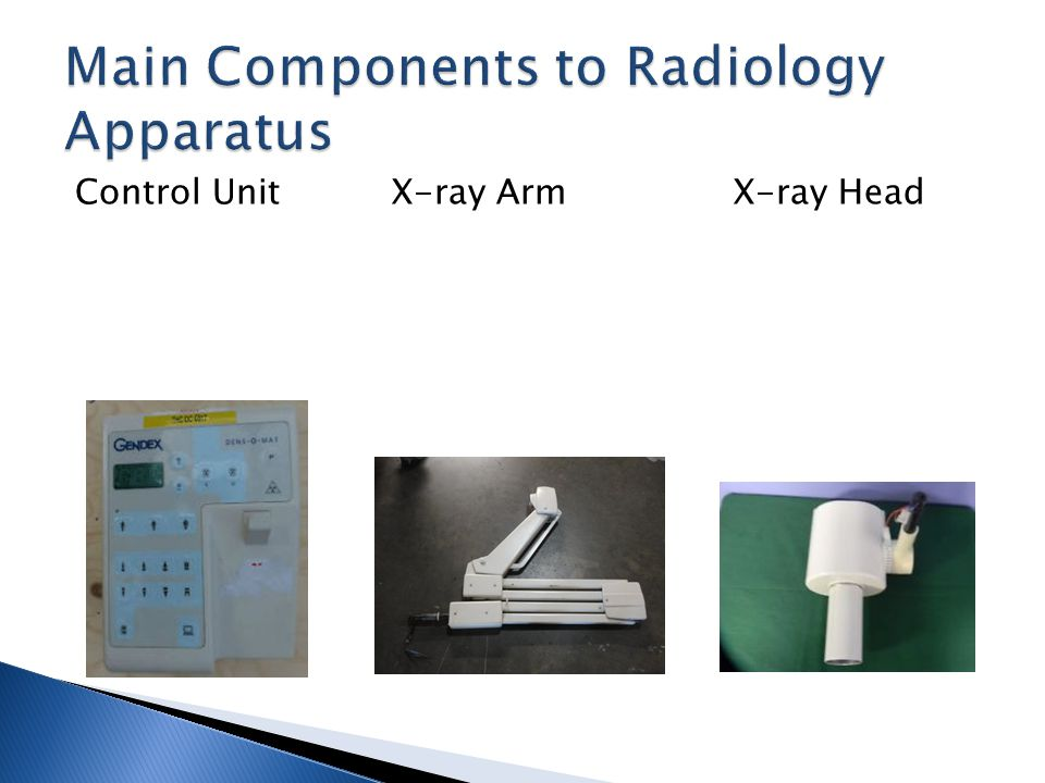 Control Unit X-ray Arm X-ray Head