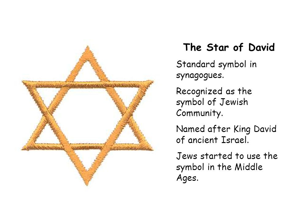 The Star of David Standard symbol in synagogues. Recognized as the symbol of Jewish Community.