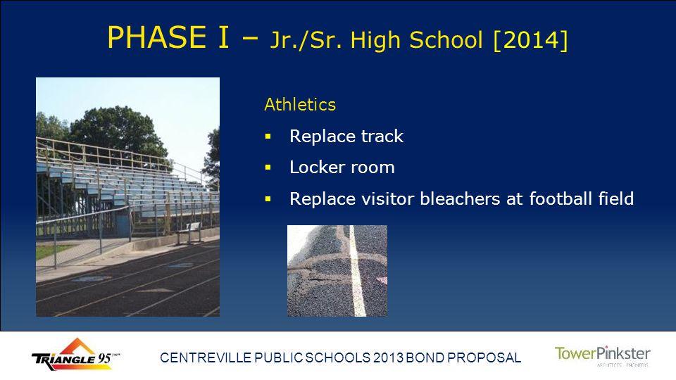 CENTREVILLE PUBLIC SCHOOLS 2013 BOND PROPOSAL PHASE I – Jr./Sr.