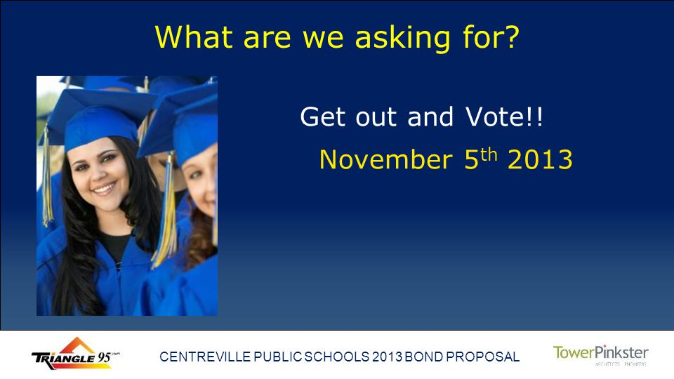 CENTREVILLE PUBLIC SCHOOLS 2013 BOND PROPOSAL What are we asking for.