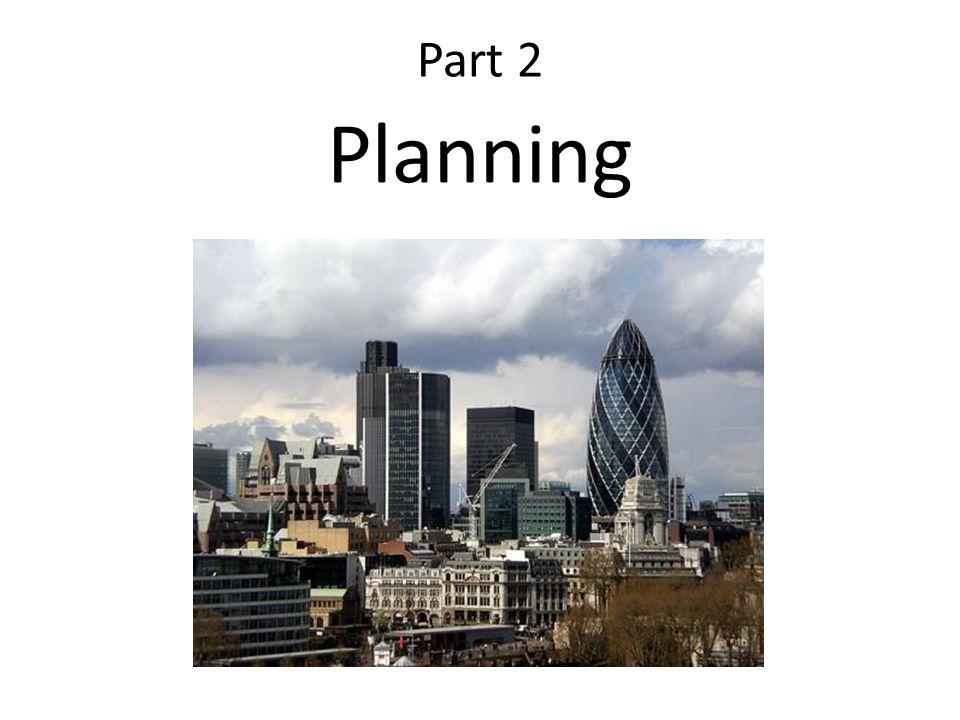 Part 2 Planning