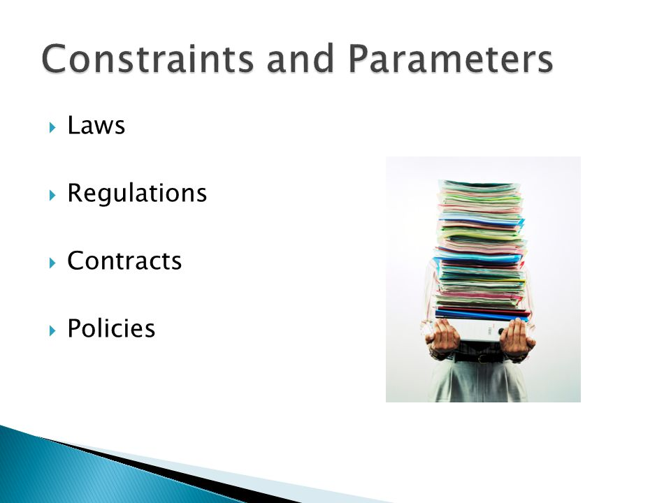 Laws Regulations Contracts Policies