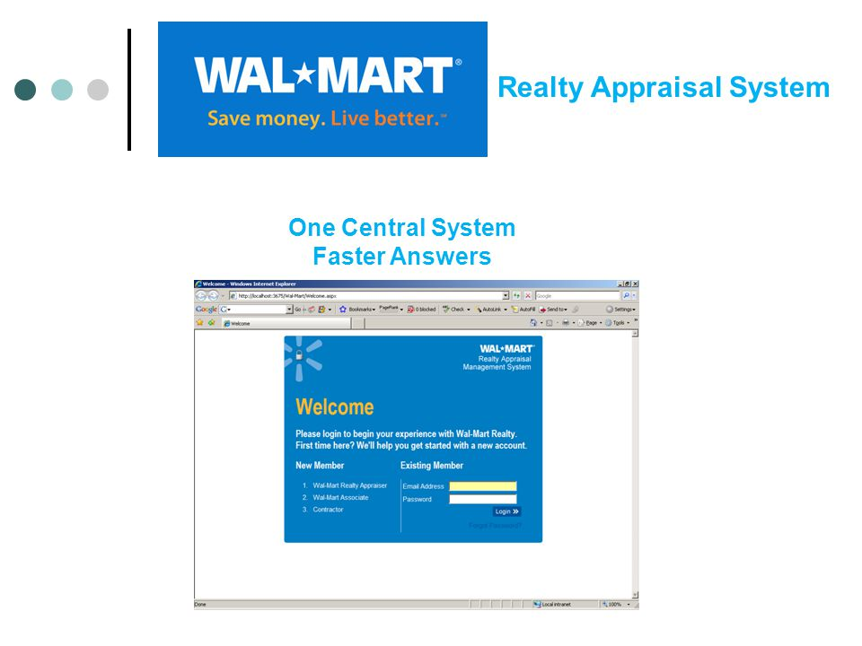 One Central System Faster Answers Realty Appraisal System