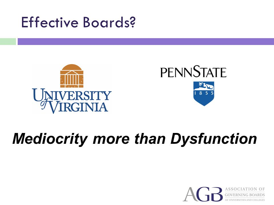 Mediocrity more than Dysfunction