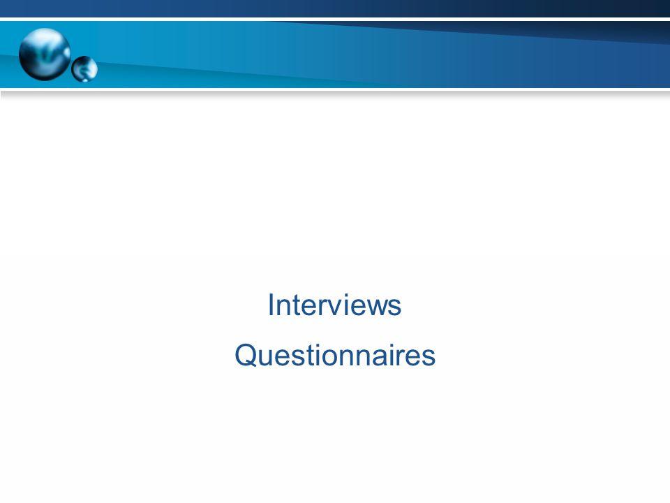 Query Techniques Interviews Questionnaires