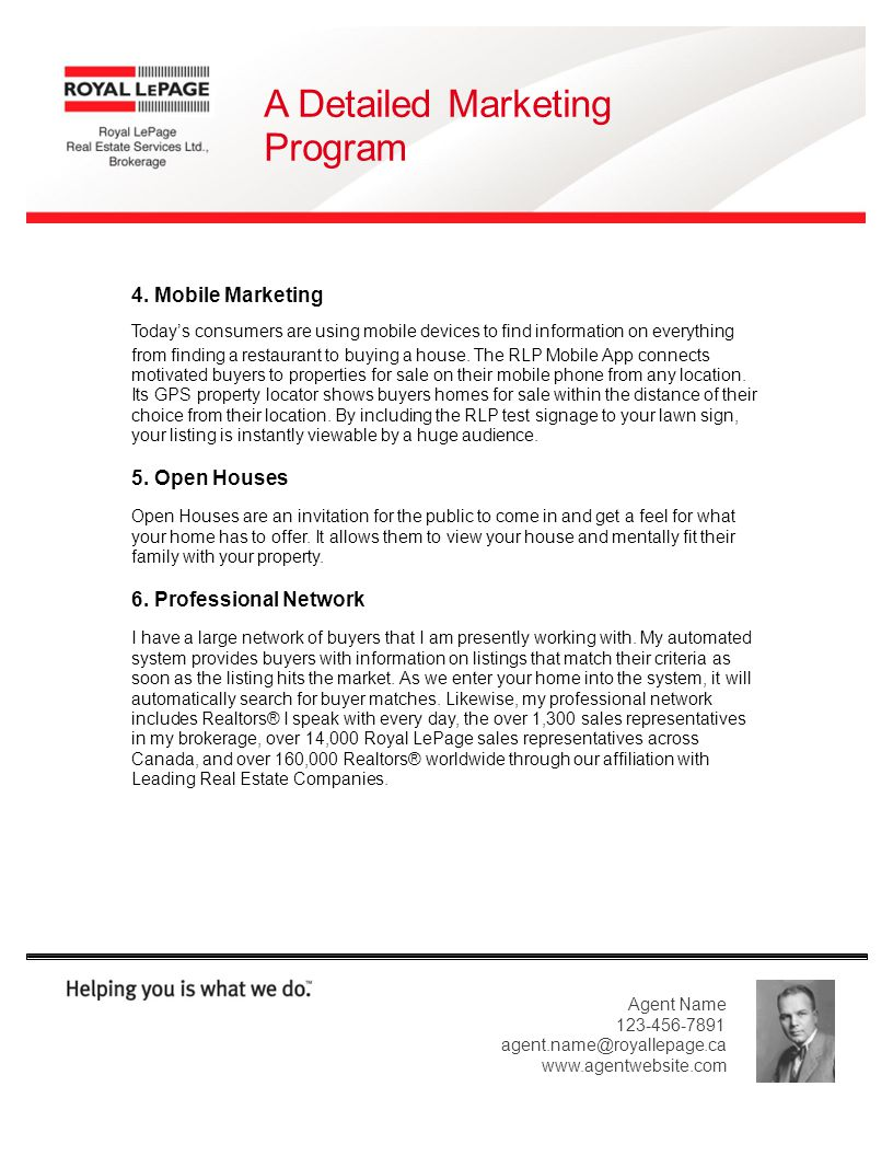 A Detailed Marketing Program 4.