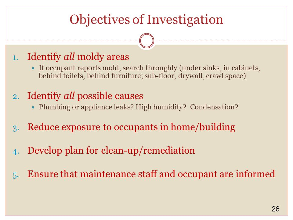 26 Objectives of Investigation 1.