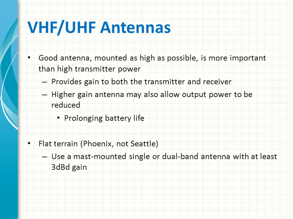 Radio Receiver Performance (cont) Noise blankers – Reduce impulse noise from arcing power lines, vehicle and generator ignition systems, and various other sources