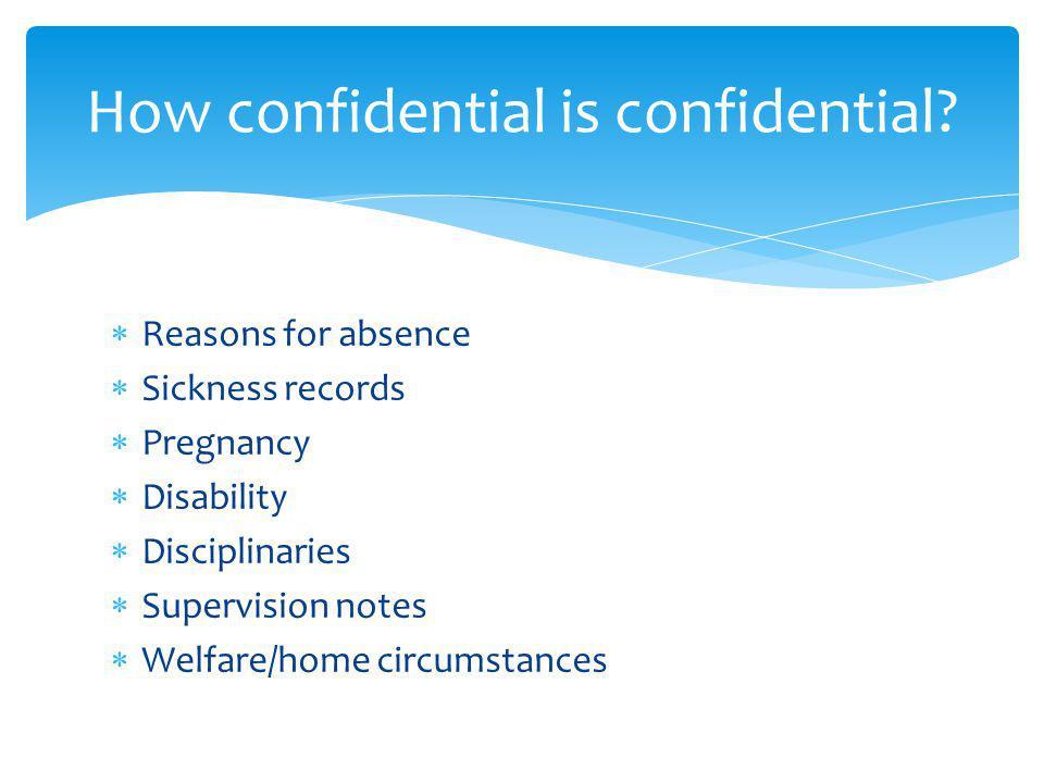 How confidential is confidential.