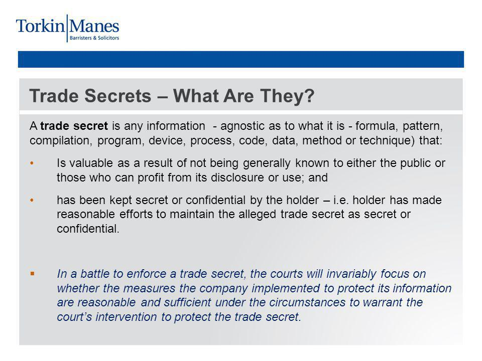 Trade Secrets – What Are They.