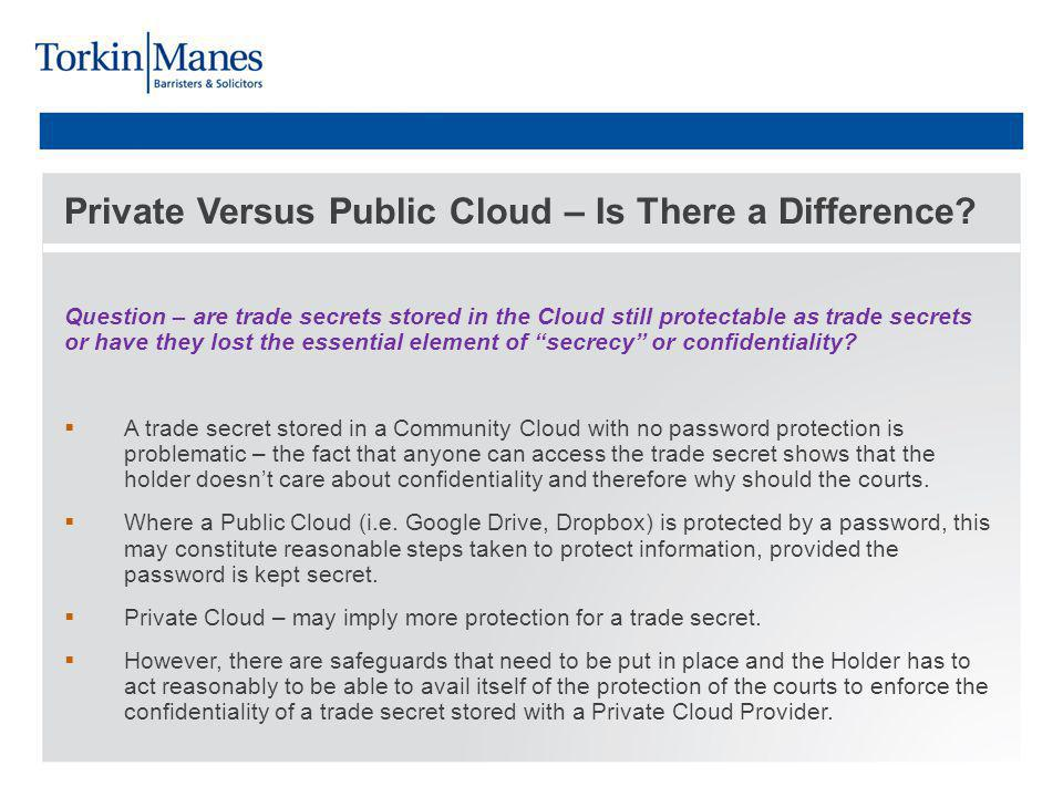 Private Versus Public Cloud – Is There a Difference.