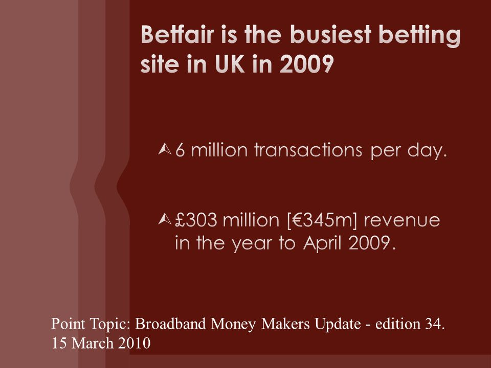 Point Topic: Broadband Money Makers Update - edition March 2010