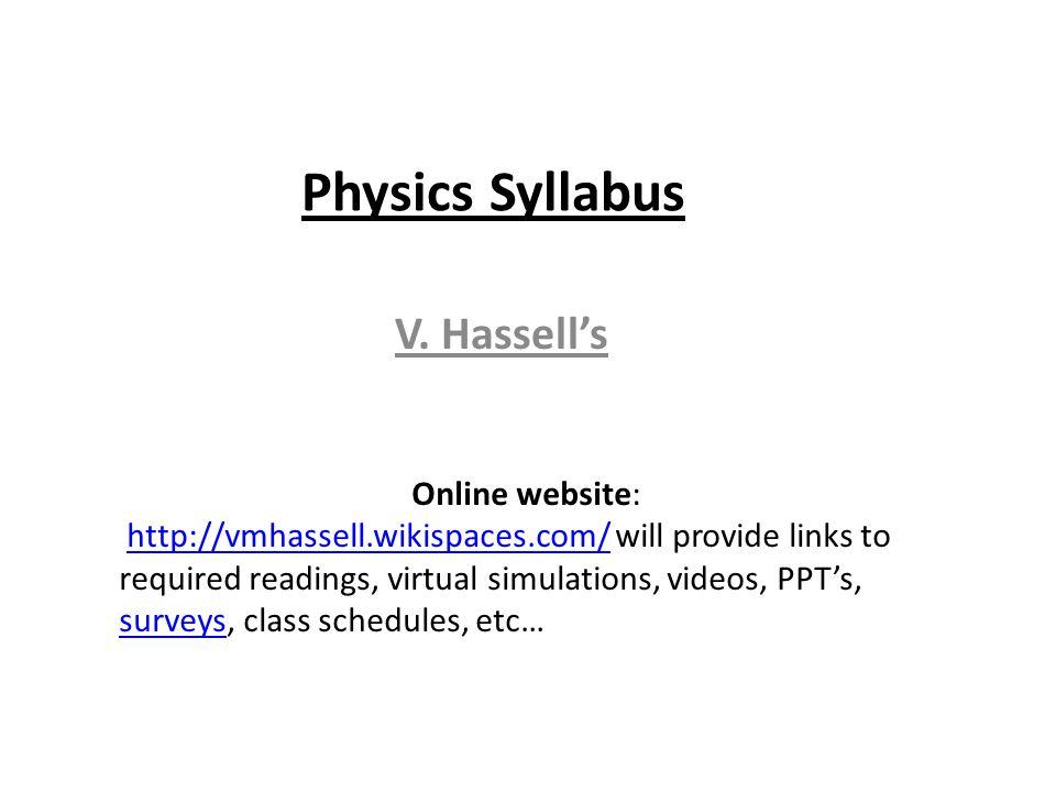 Physics Syllabus V.