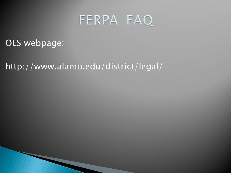 OLS webpage: http://www.alamo.edu/district/legal/