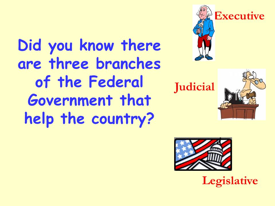 The President of The United States is the head of the Executive Branch.