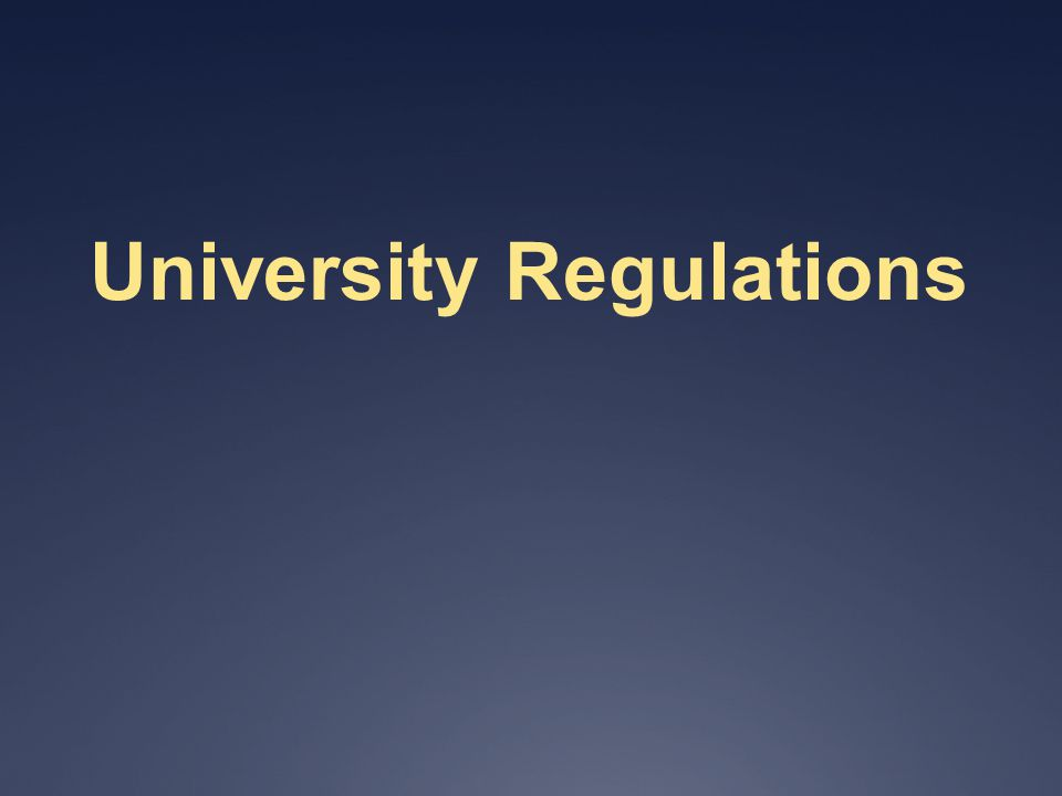 University Regulations