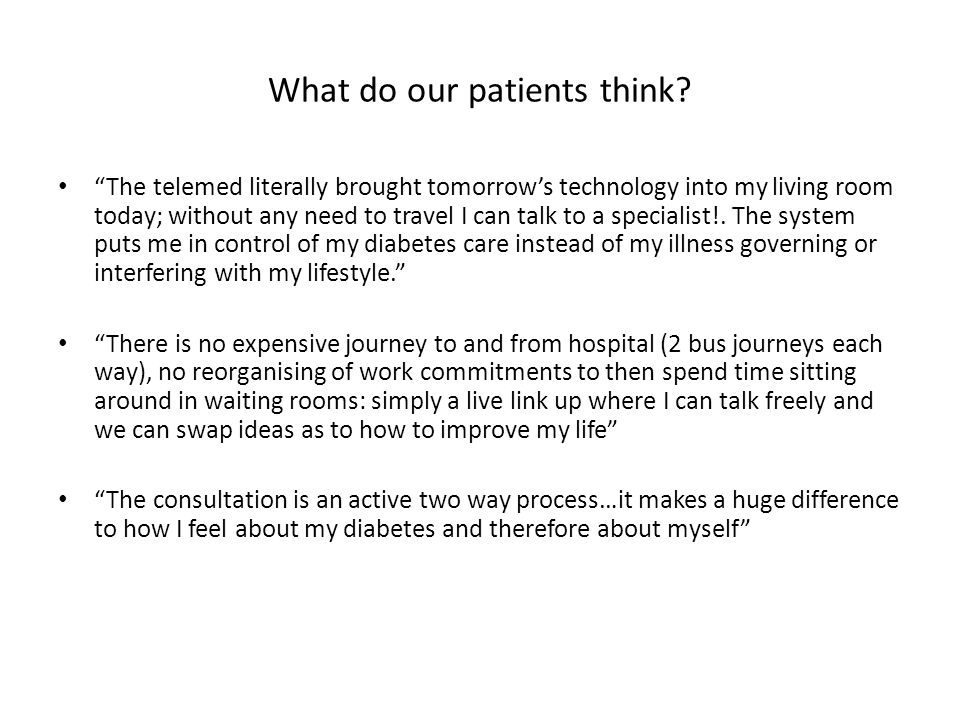 What do our patients think.
