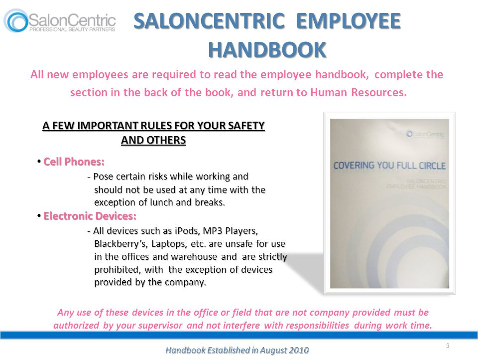 IMPORTANT INFORMATION ABOUT ENTERING THE WAREHOUSE WORK AREAS 24