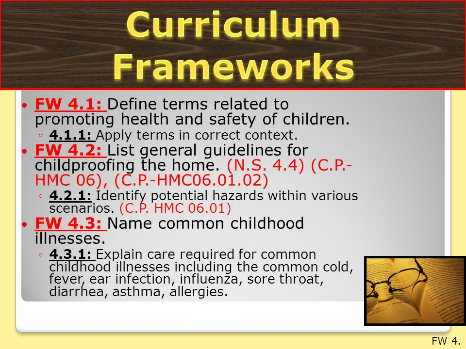 FW 4.4: Describe medical checkups and immunizations.