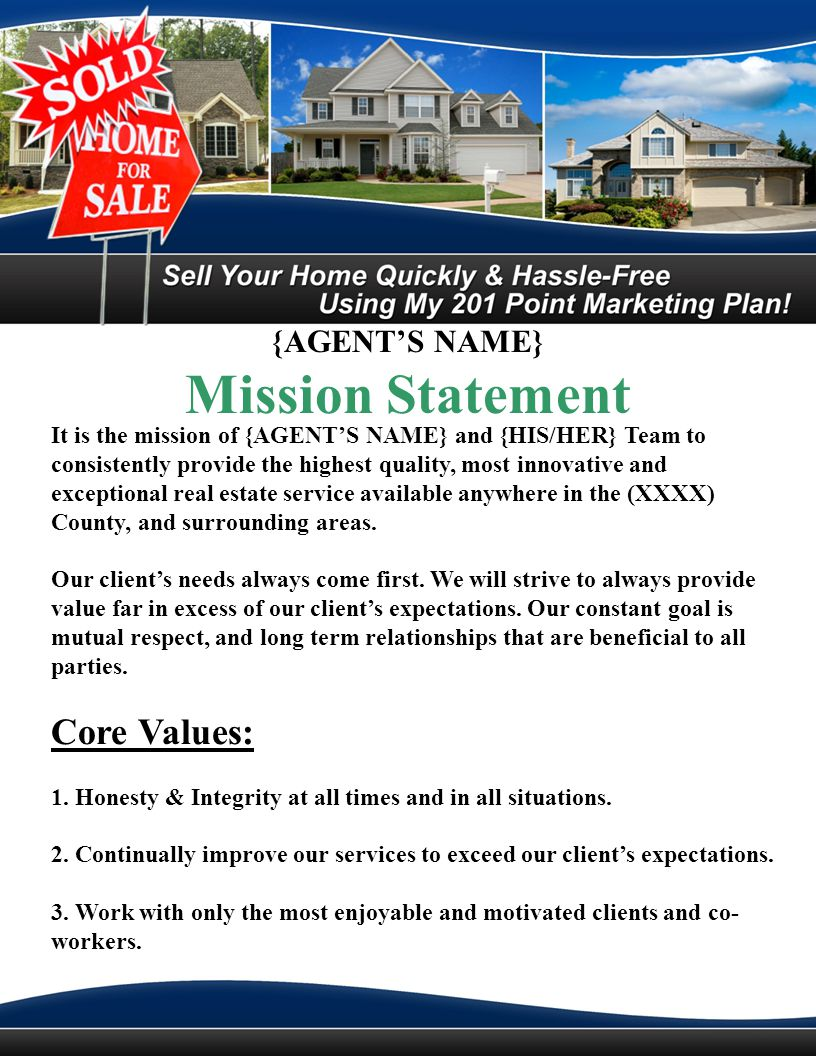 {AGENTS NAME} 201 Step System to Get Your Home Sold Fast and For Top Dollar 1.