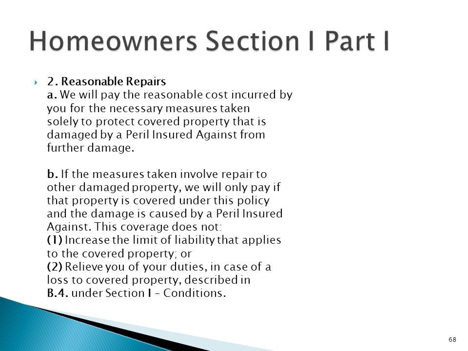 2. Reasonable Repairs a.