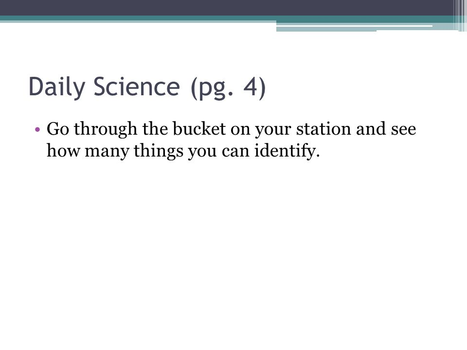 Daily Science (pg.