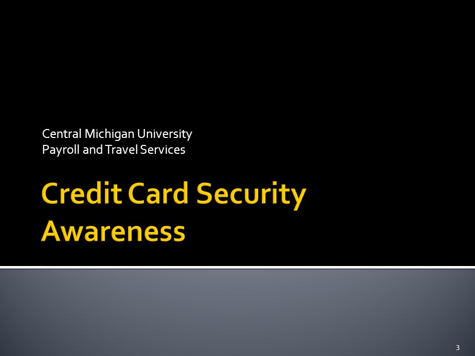 Central Michigan University Payroll and Travel Services 3