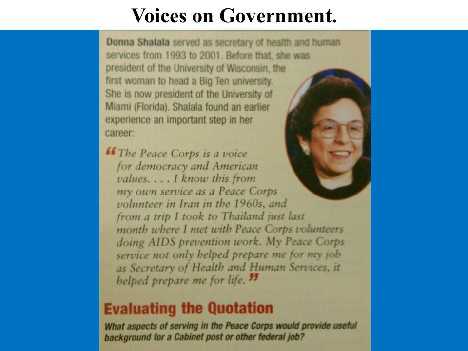 Voices on Government.