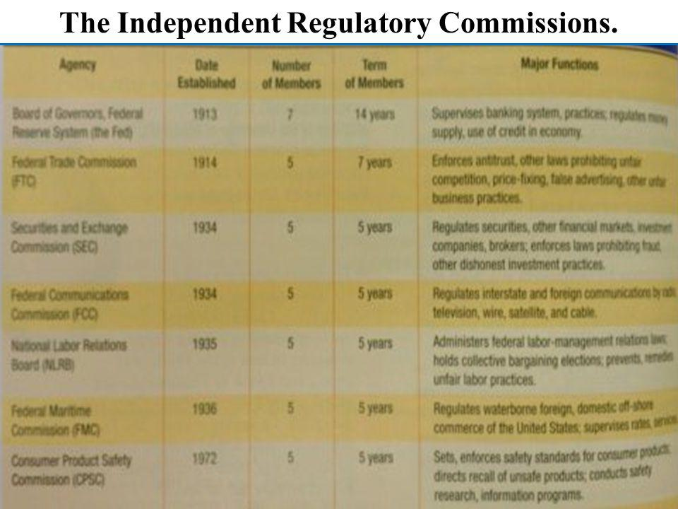 The Independent Regulatory Commissions.