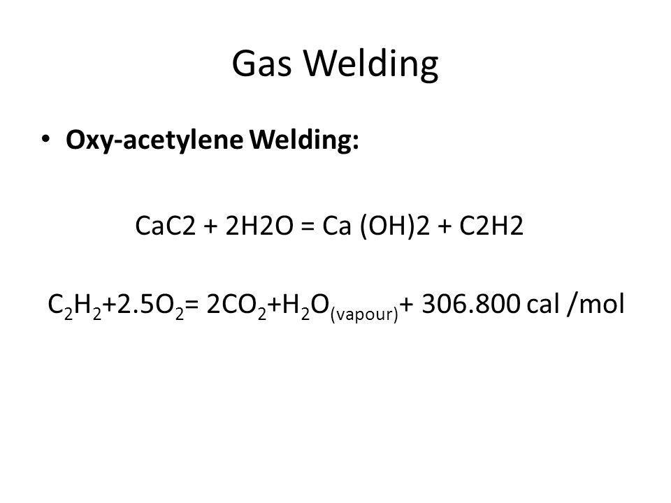 Gas welding Apparatus 1.Oxygen cylinder 2. Acetylene cylinder 3.