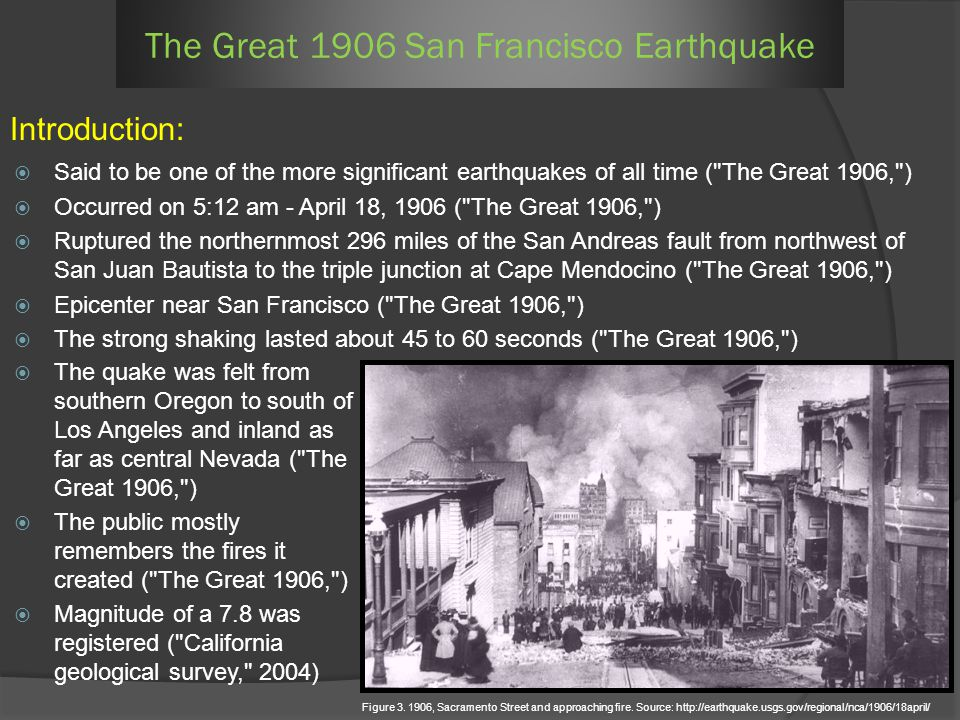 Said to be one of the more significant earthquakes of all time (