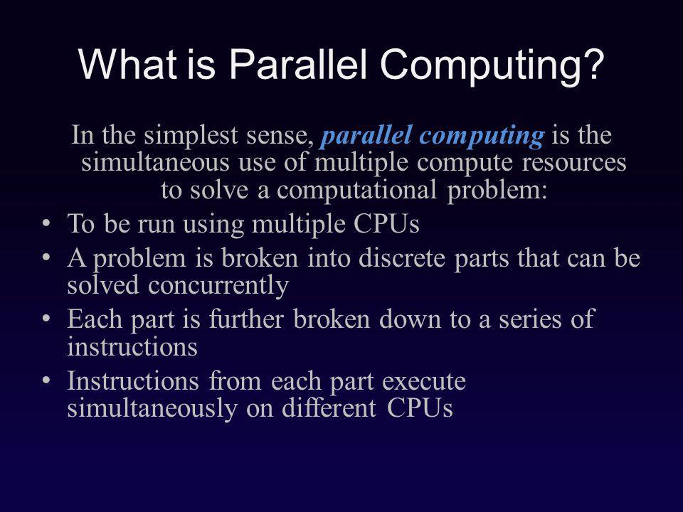 What is Parallel Computing.