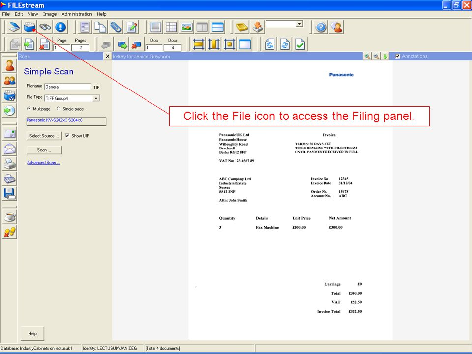 Click here to file the documents. Highlight the documents to be filed.