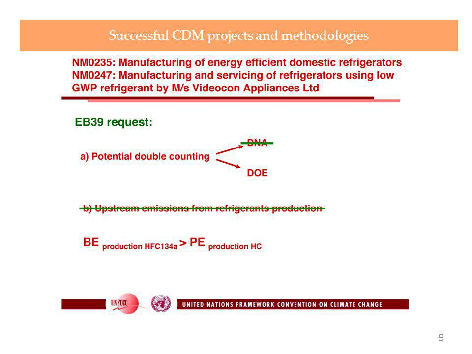 .. Successful CDM projects and methodologies 9