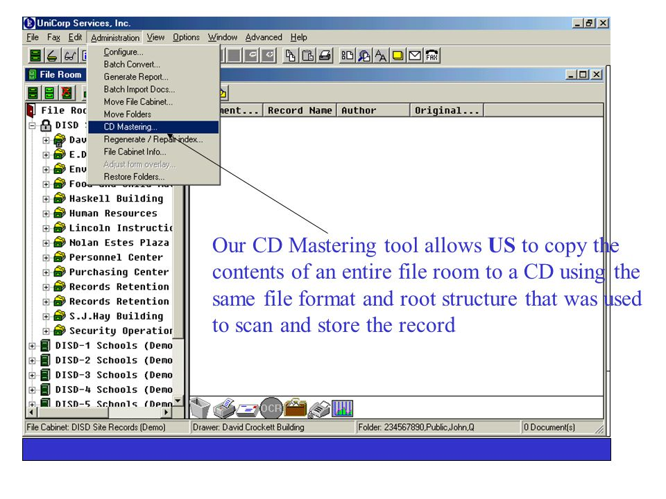 CD-ROM Storing your records on CD-ROM reduces costs and makes employees more efficient in their abilities to access and retrieve data.