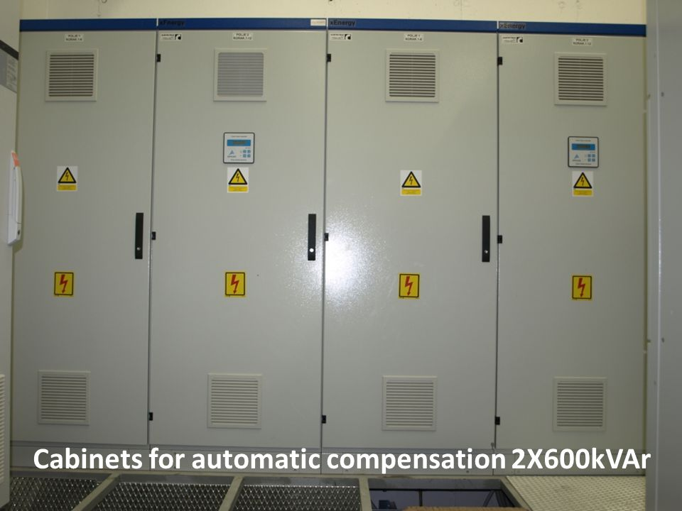 Cabinets for automatic compensation 2X600kVAr