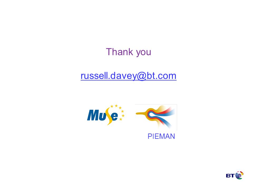 Thank you russell.davey@bt.com PIEMAN
