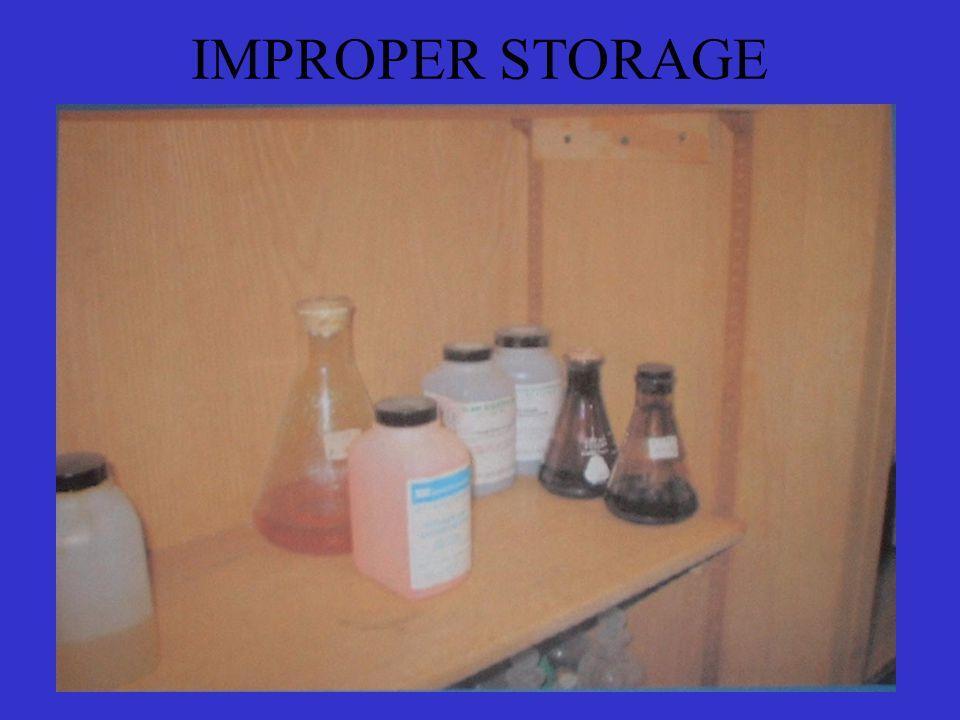 IMPROPER STORAGE