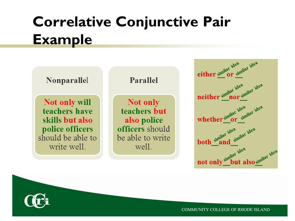 Correlative Conjunctive Pair Example