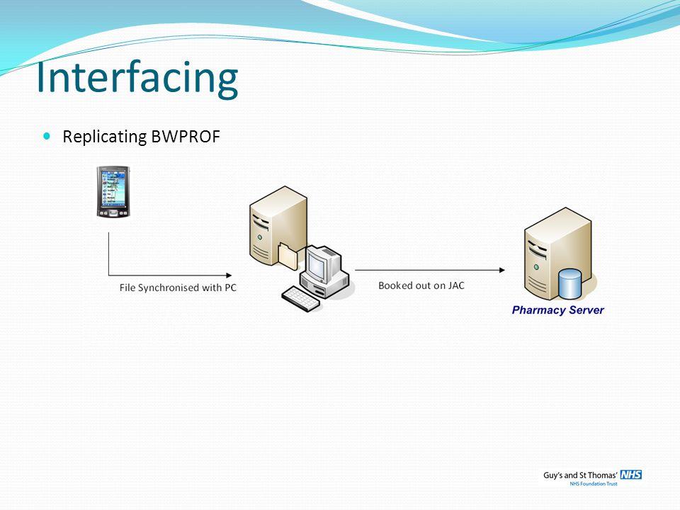 Interfacing Replicating BWPROF