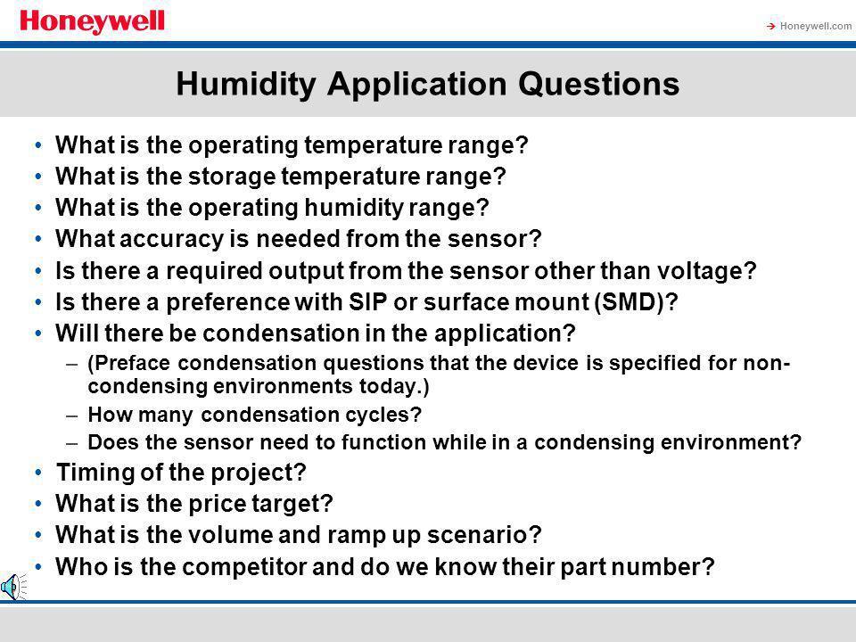 Honeywell.com Temperature Effects