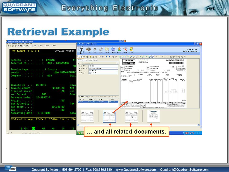 Retrieval Example … and all related documents.