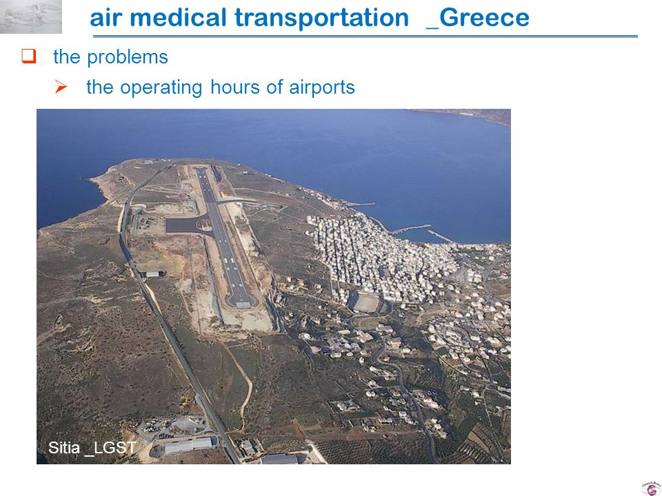the problems the operating hours of airports Sitia _LGST air medical transportation _Greece