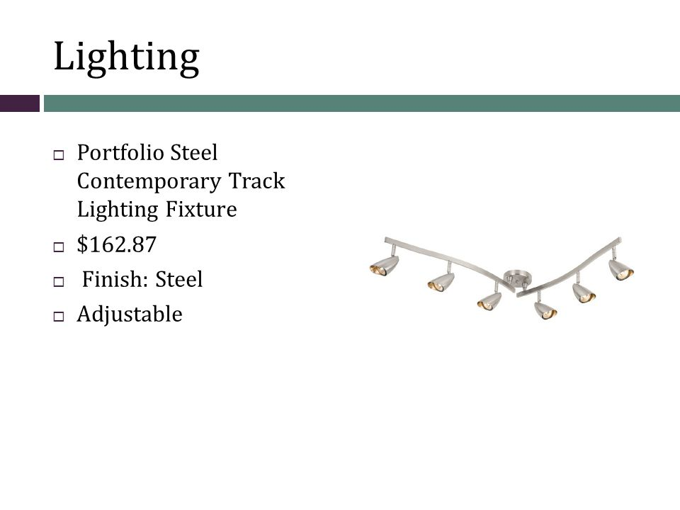 Lighting Portfolio Steel Contemporary Track Lighting Fixture $162.87 Finish: Steel Adjustable