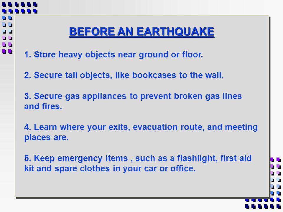 EARTHQUAKE SAFETY FIWC DET SAN DIEGO
