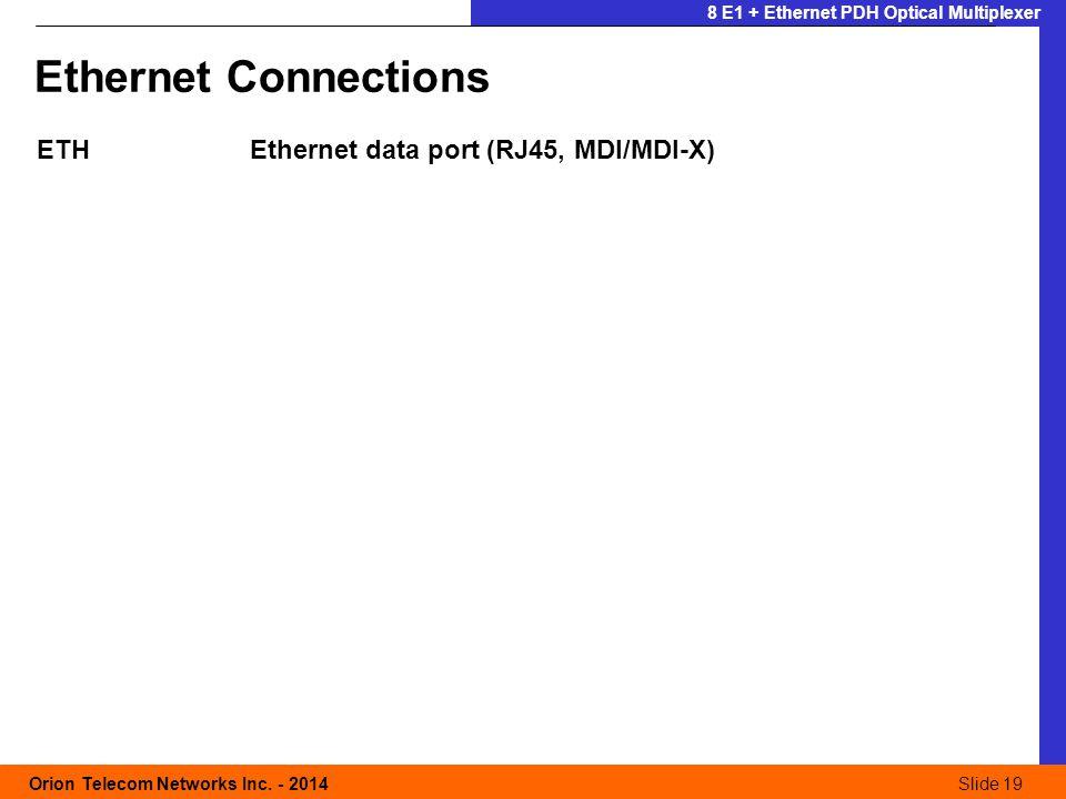 Slide 19 Orion Telecom Networks Inc.