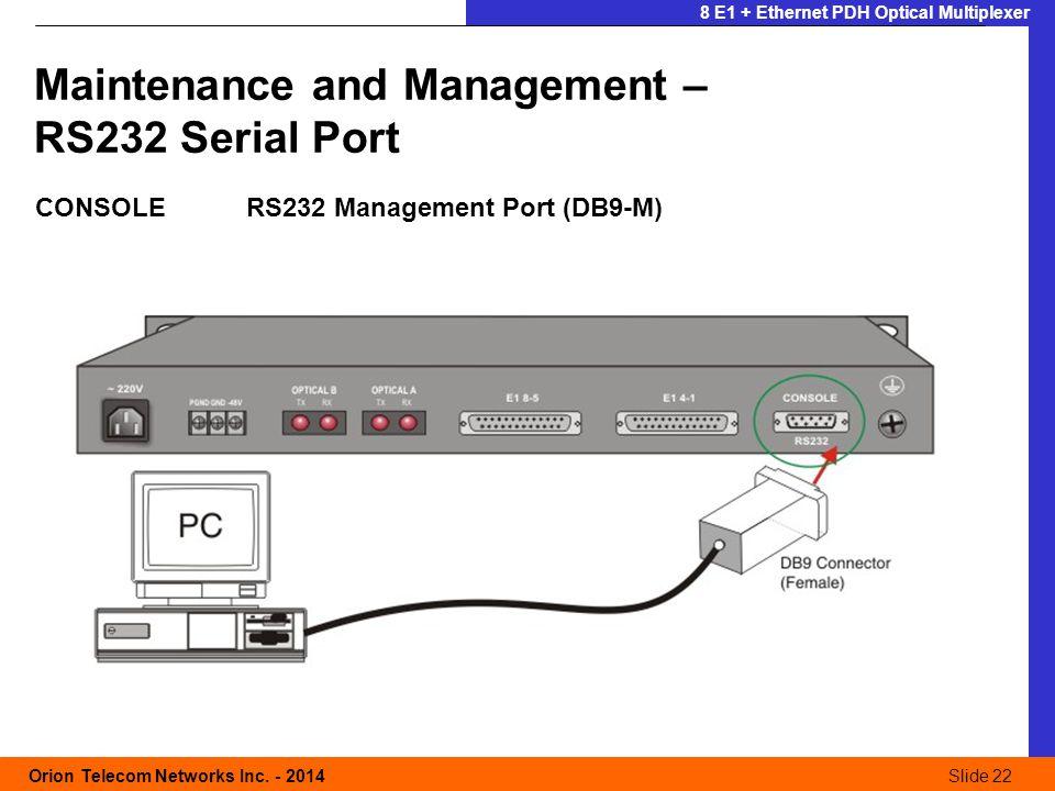 Slide 22 Orion Telecom Networks Inc.