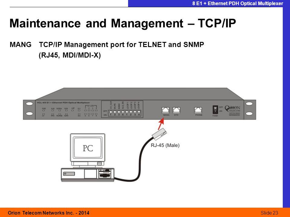 Slide 23 Orion Telecom Networks Inc.