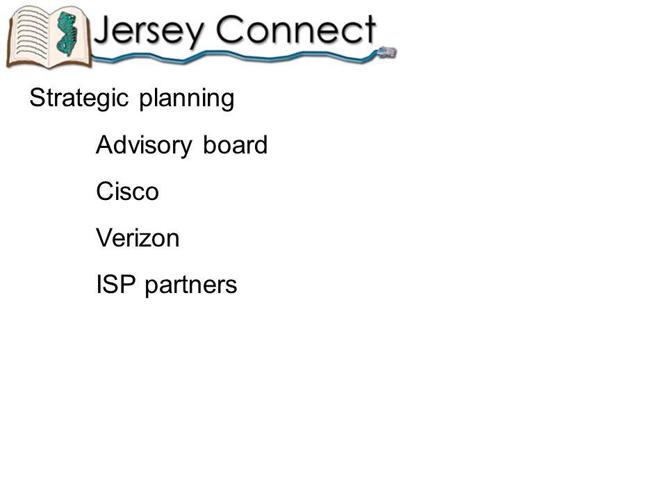 Strategic planning Advisory board Cisco Verizon ISP partners