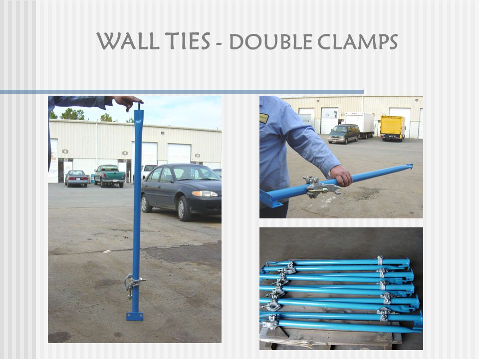 WALL TIES - DOUBLE CLAMPS